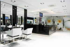 trabajo de interiorismo en peluquería
